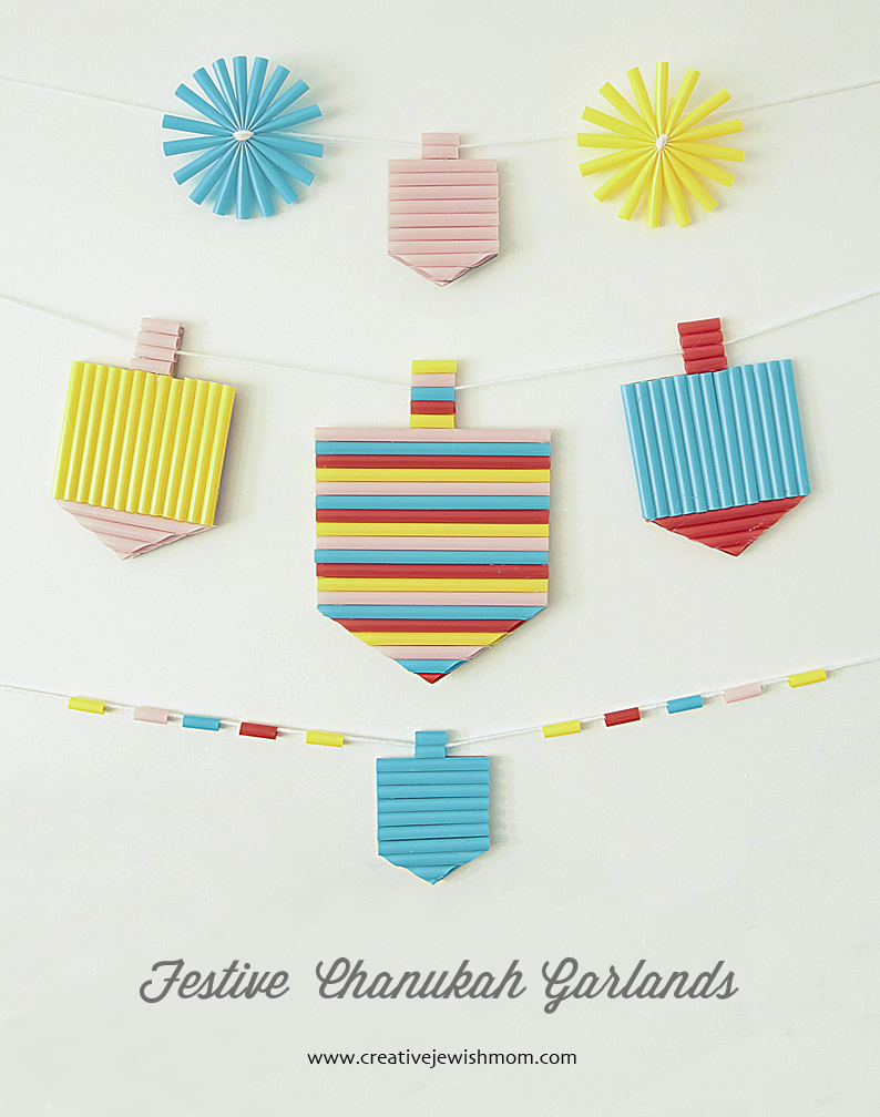 Hanukkah kids craft dreidel garland