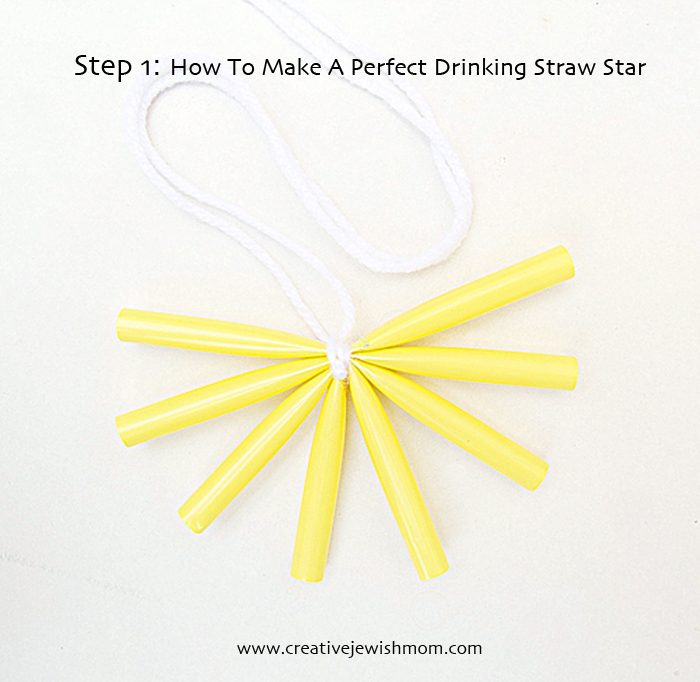 Drinking Straw Star Step 1