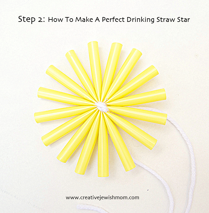 Drinking Straw Star Step 2
