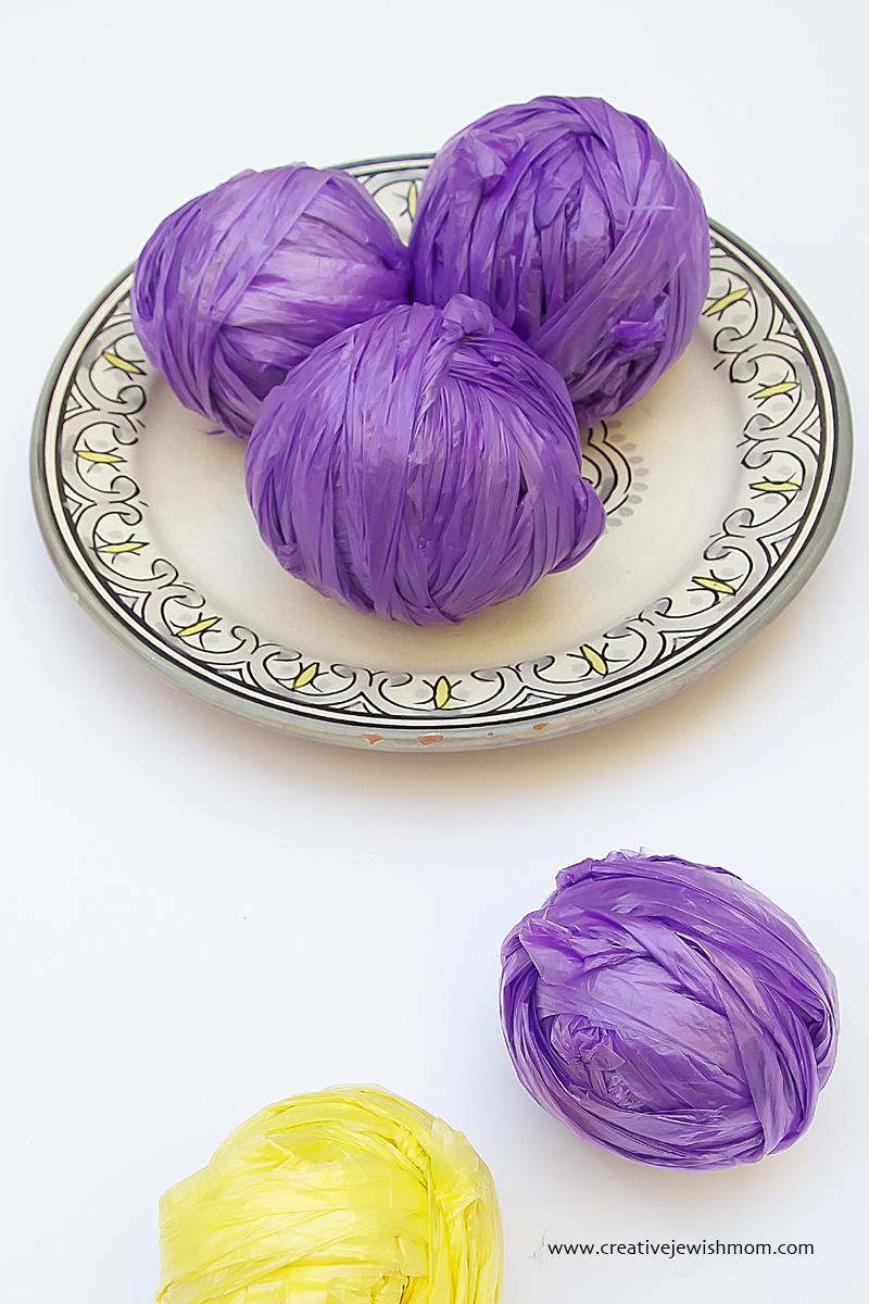Plastic Bag Yarn For Pom Poms
