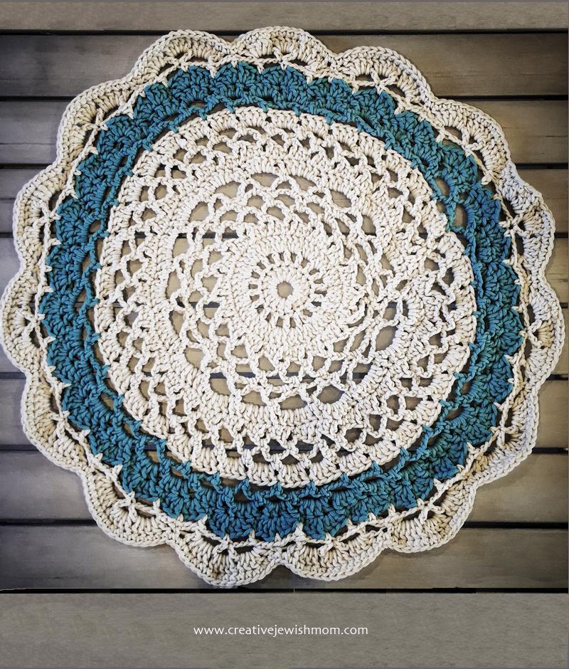 Crocheted Chunky Doily Throw Using My Doily Rug Pattern Creative