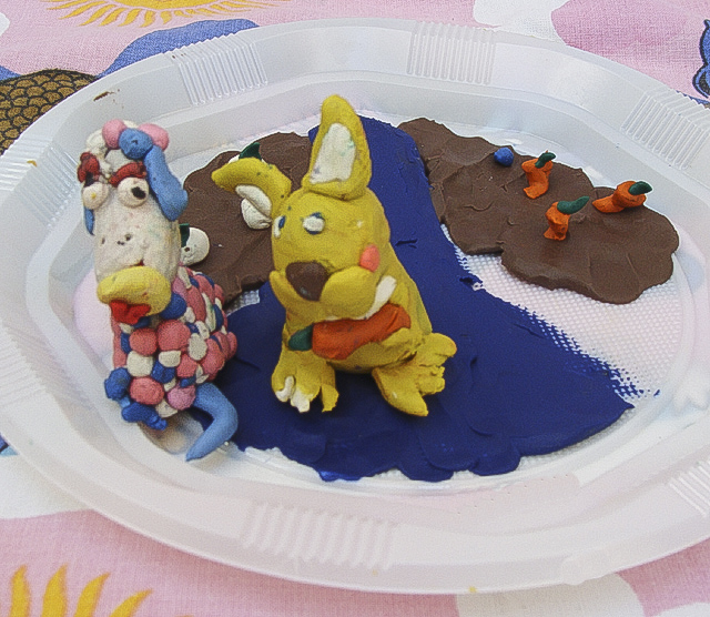 Modeling Clay Bunny and Sheep Craft