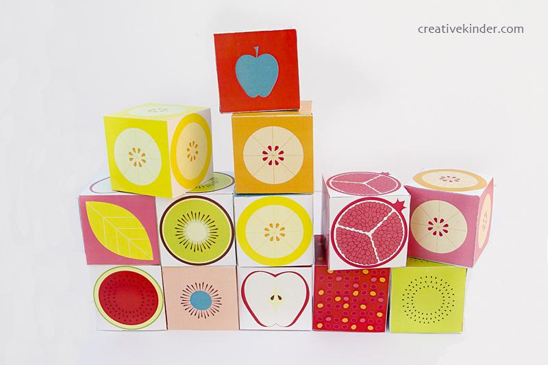 Printable Fruit Slice Favor Boxes Lined Up 800pix