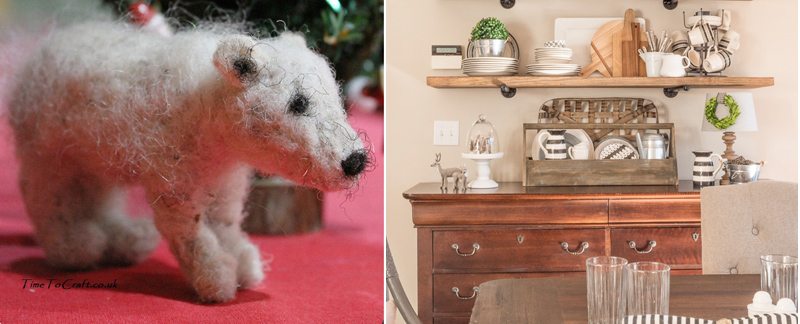 Felted Polar Bear, DIY shelves
