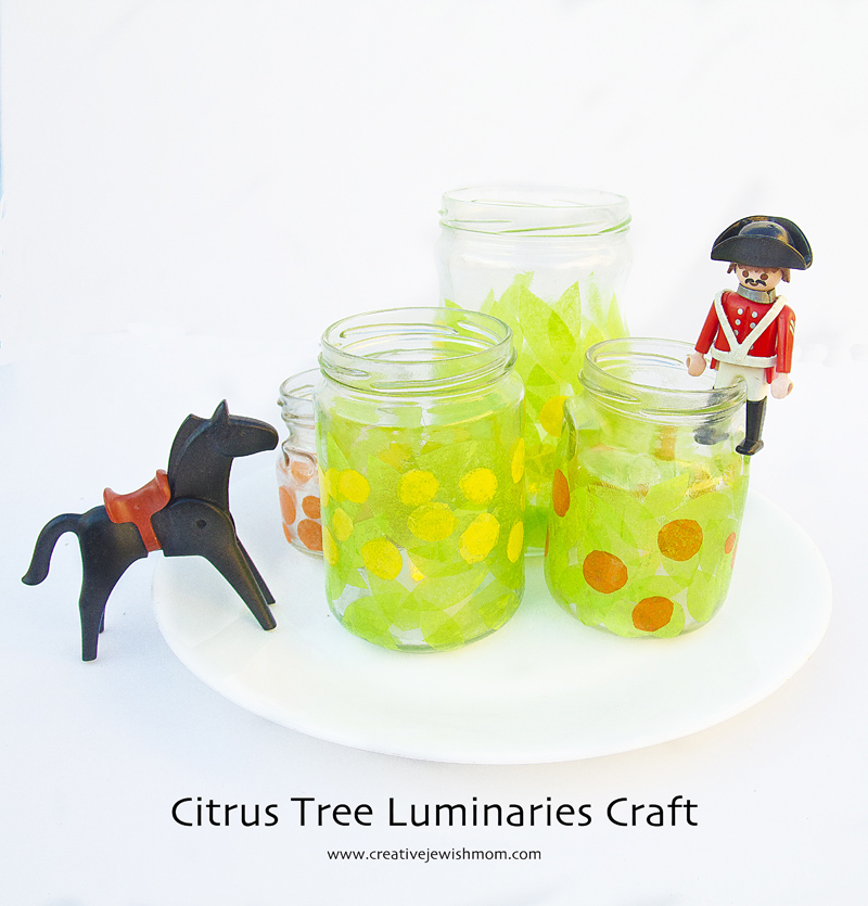 Tu B'Shevat Citrus Tree Tea Light Holders