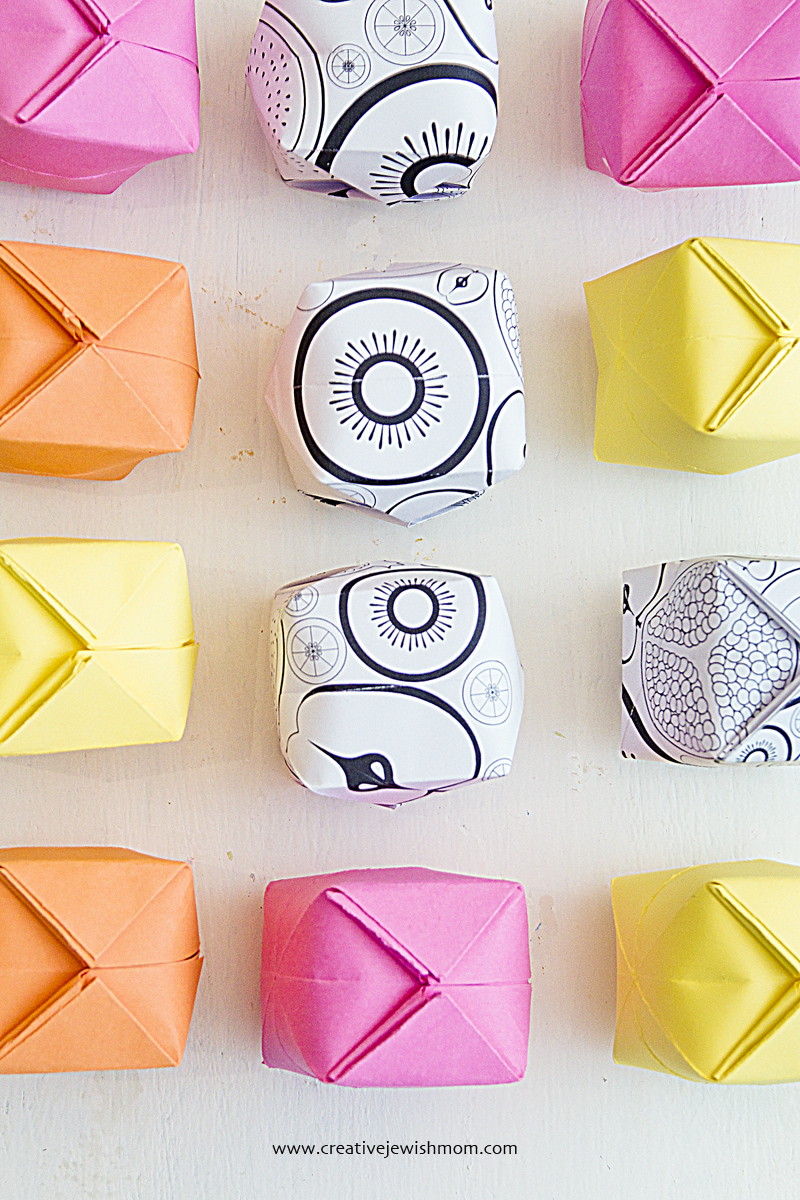 Origami Blow Up Cubes In Solids and prints