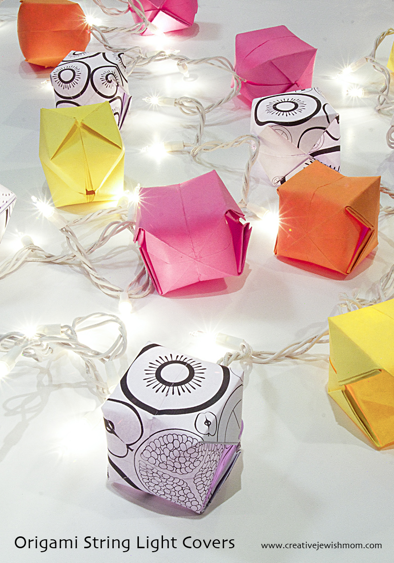 Origami Square Balloons String Light Covers