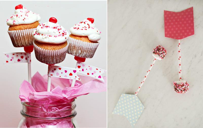 Cupcakes on a stick,marshmellow arrows