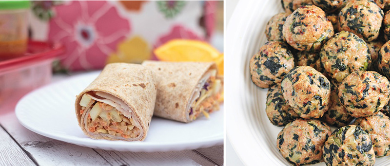 Turkey wraps,baked turkey with spinach meatballs