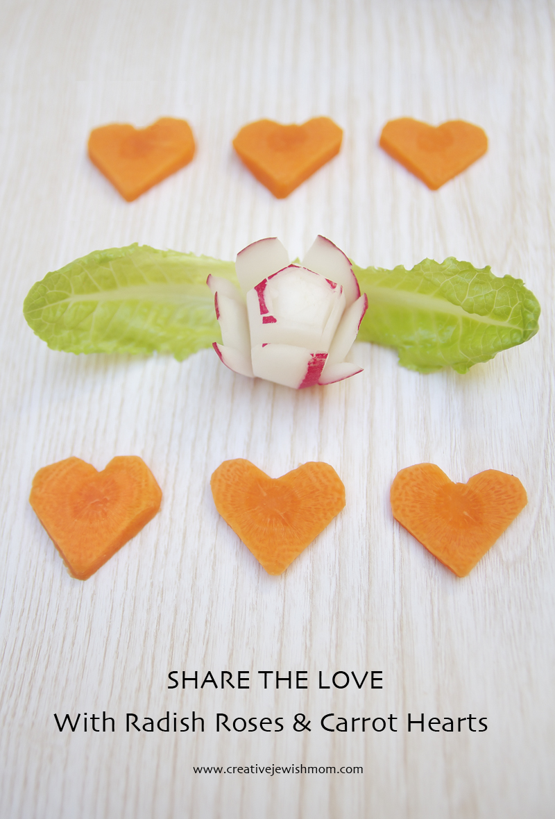Radish Roses And Carrot Hearts