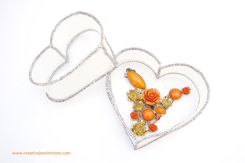 Plastic Canvas Heart Baskets