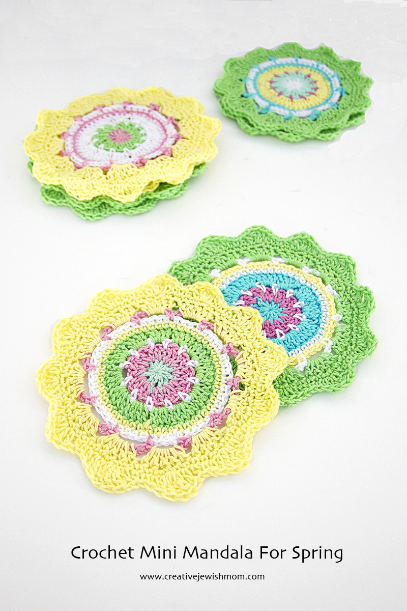 Crochet Mini Mandala Stash Buster Pattern - creative jewish mom