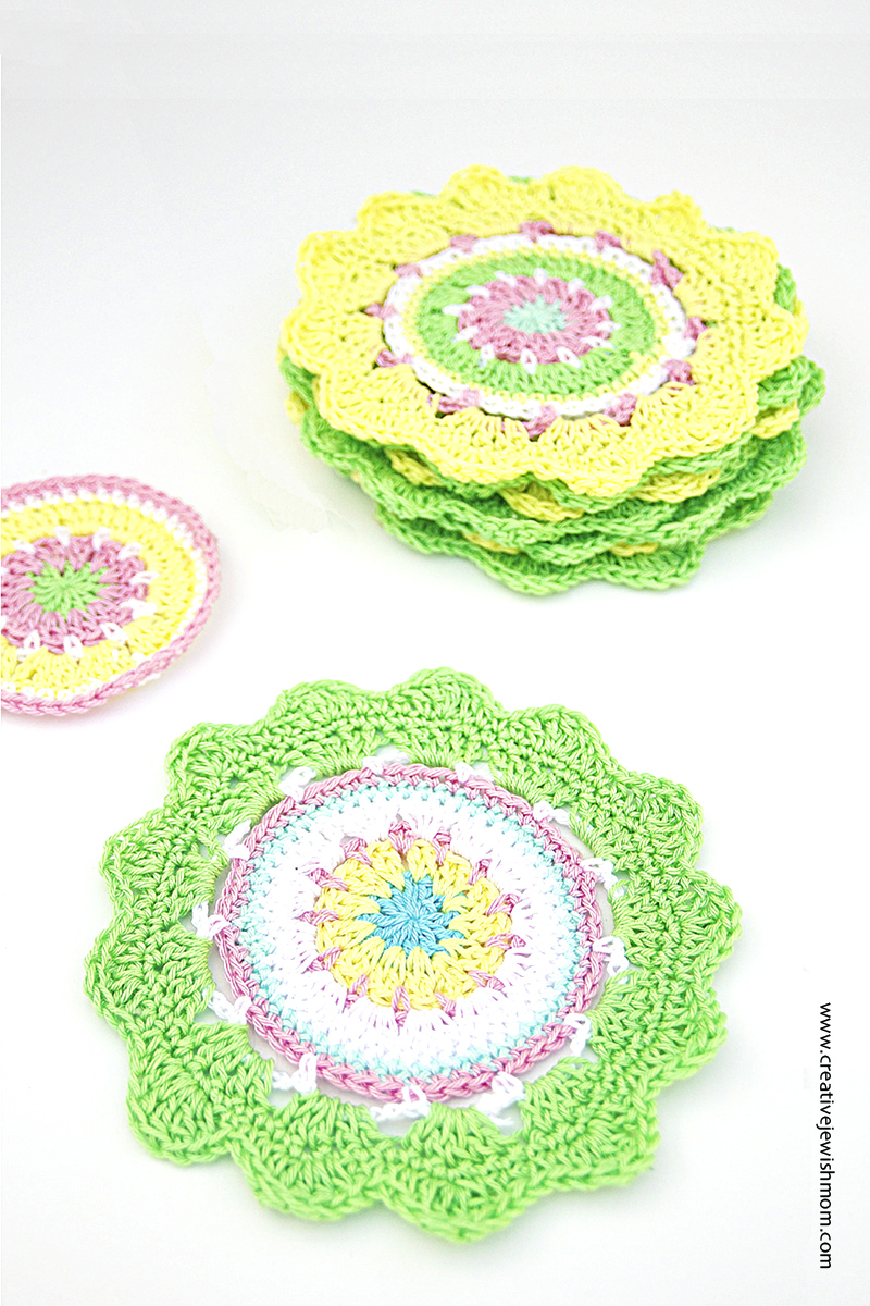 Crochet Mandala Mini Green And Yellow