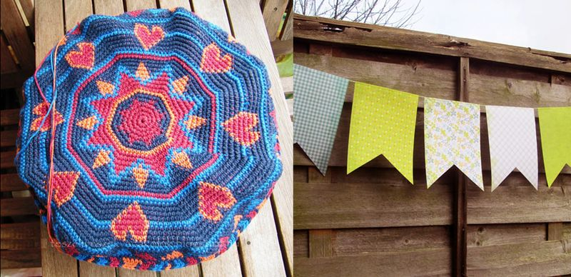 Tapestry crochet pillow