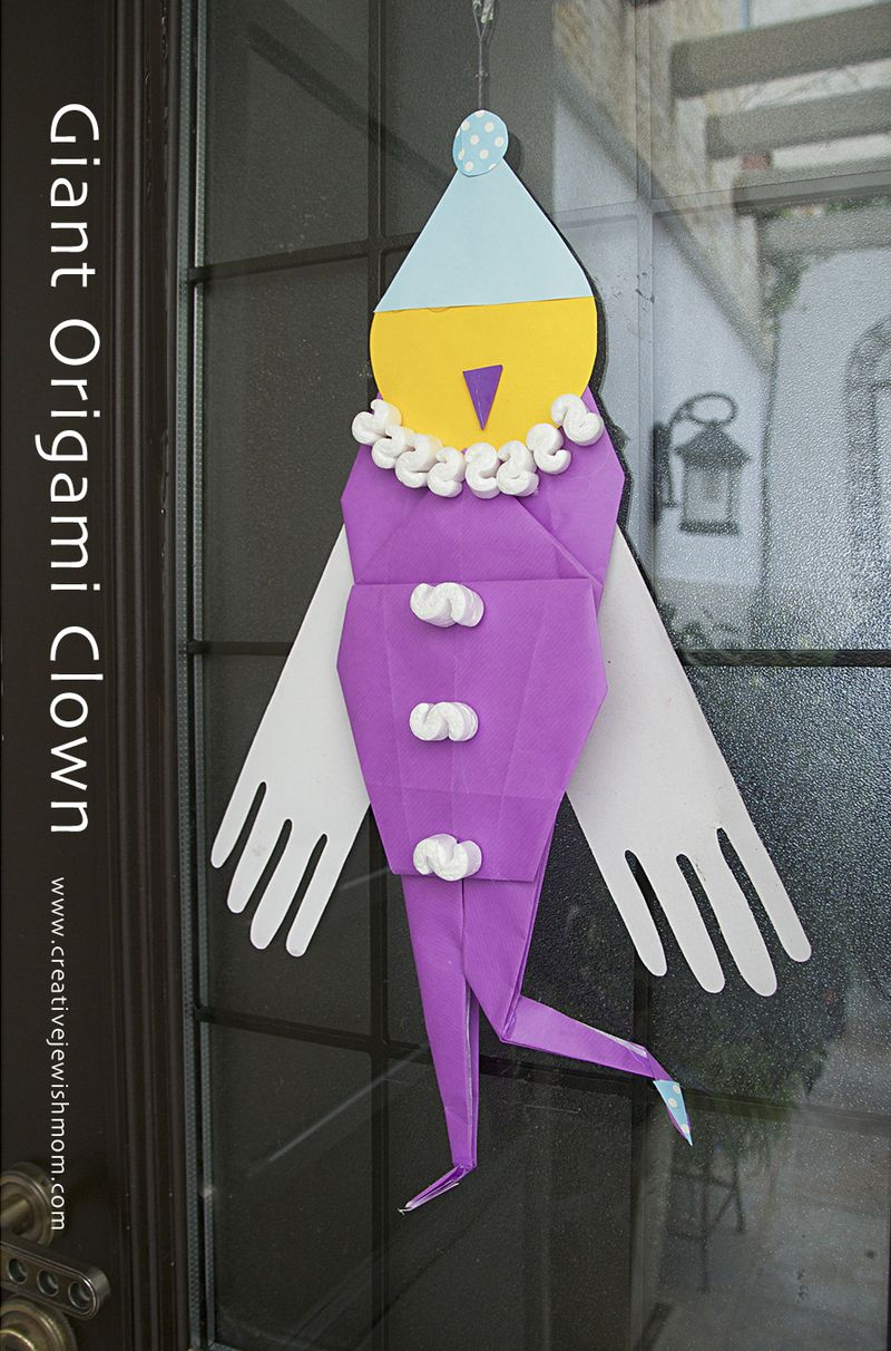 Origami Giant Clown Door Decoration