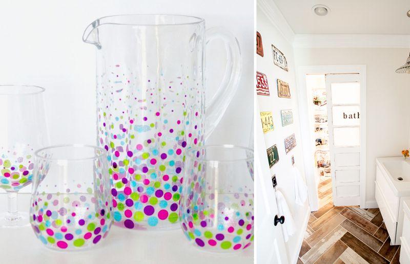 Confetti cups,bathroom re-do