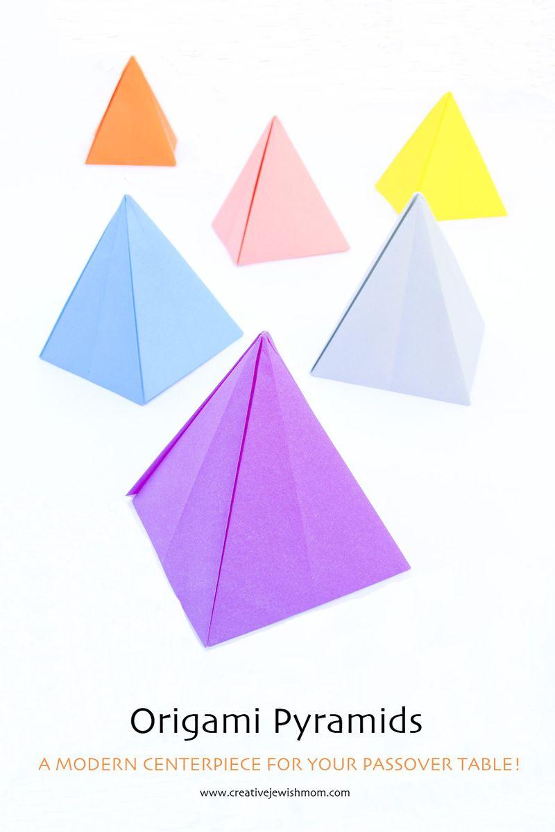 Origami Pyramids Passover Craft