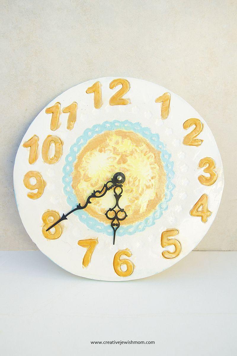 Ceramic Clay Clock Craft
