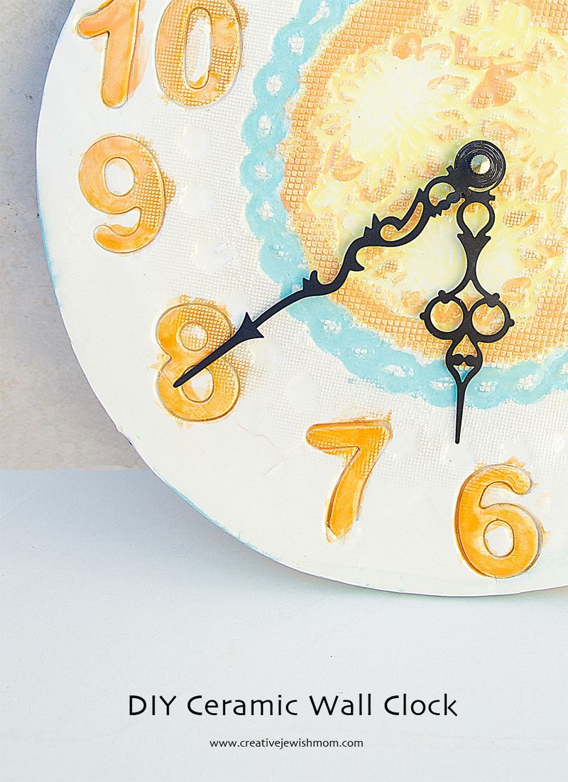 Ceramic Clock craft for kids