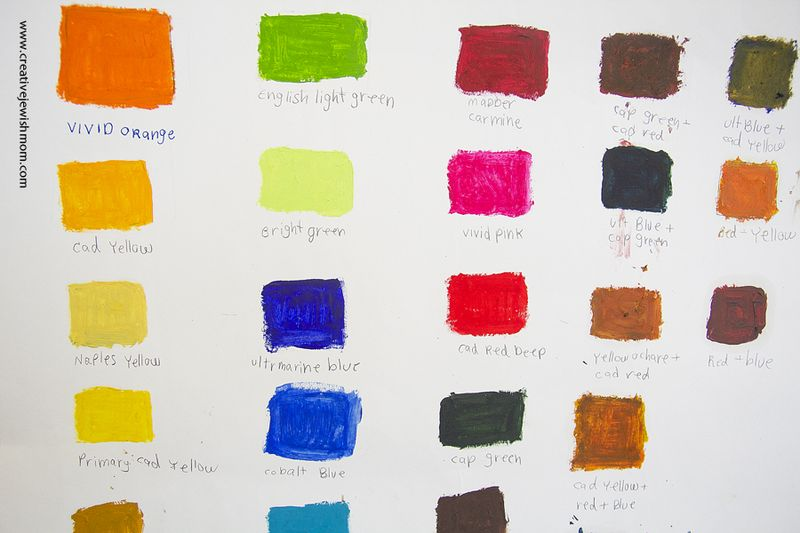 Color Chart Activity For Kids