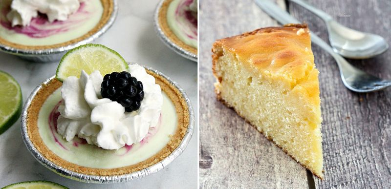Mini no bake cheesecake pies,orange pudding cake