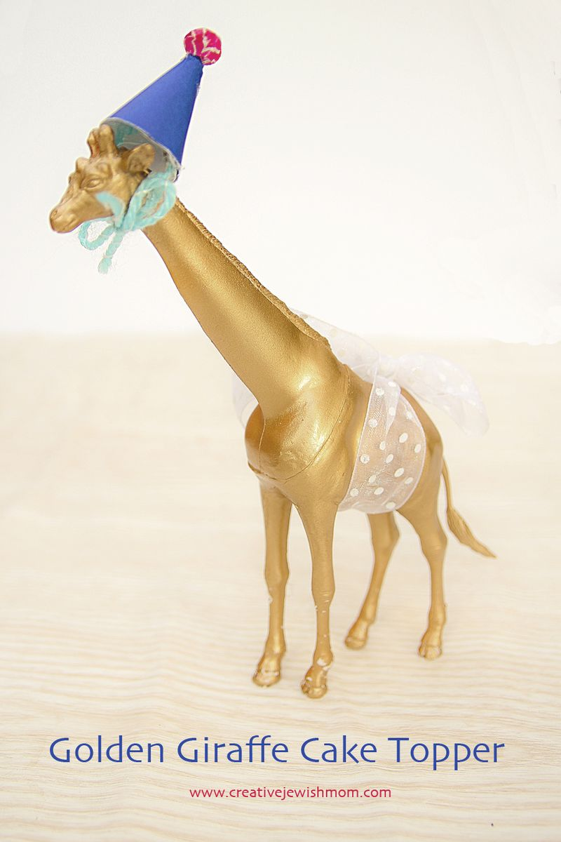 Golden Giraffe Cake Topper
