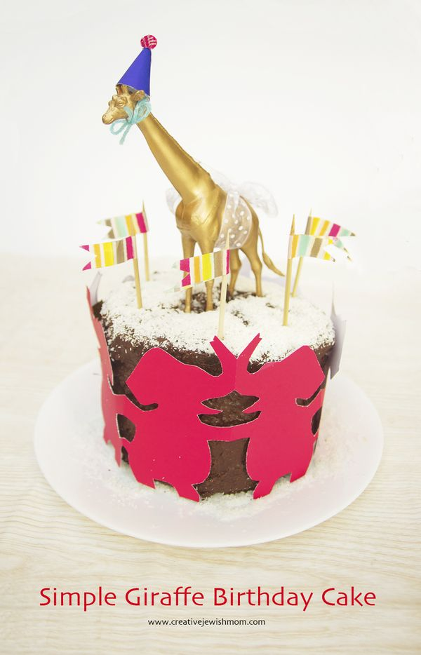 Giraffe Birthday Cake In A Pinch That Is Simple And