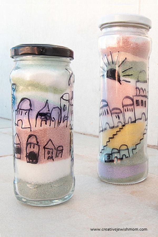 Coloring Salt With Chalk Jerusalem Scene For Tisha B Av