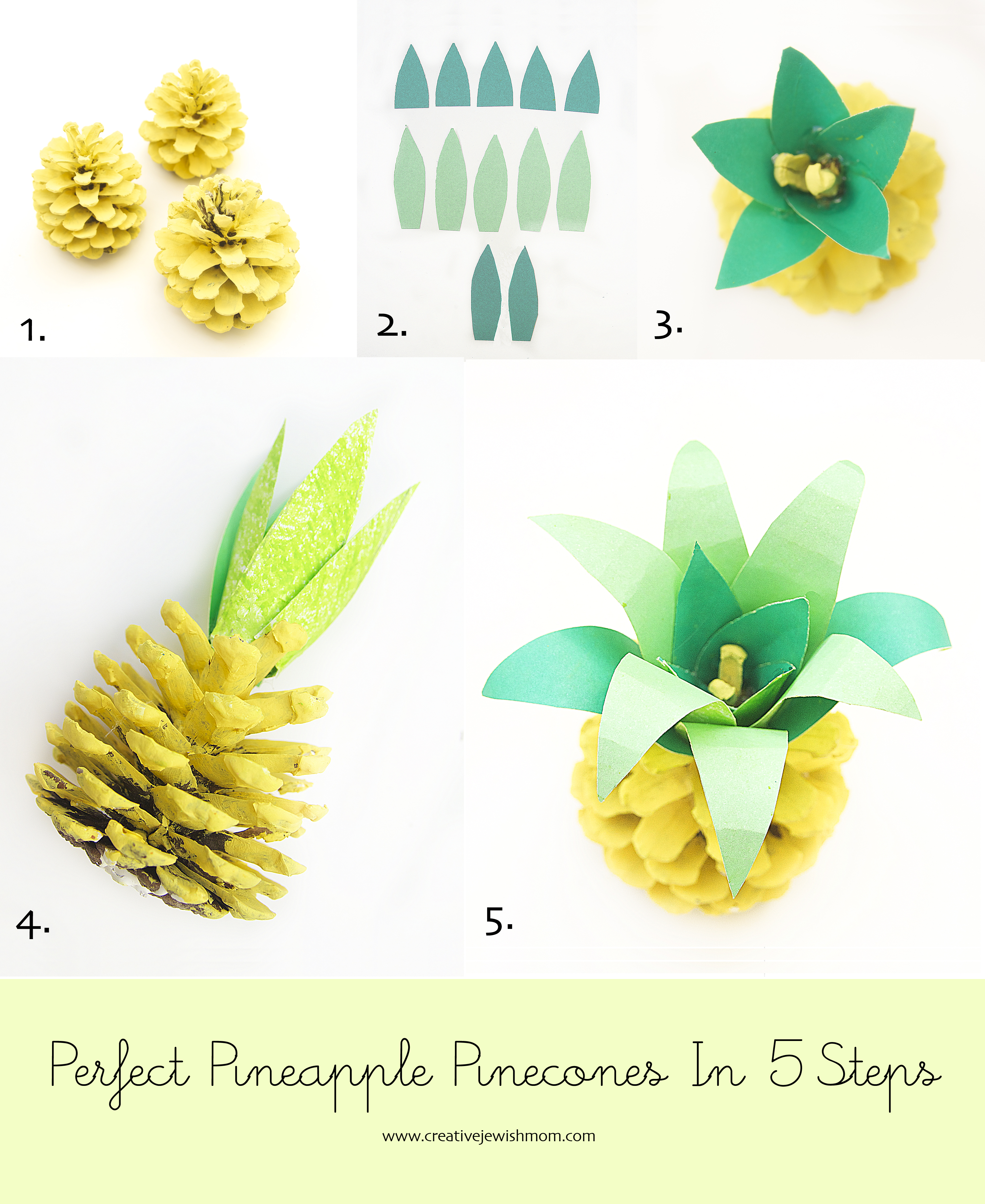 Pineapple Pinecone Craft Is My New Favorite Creative