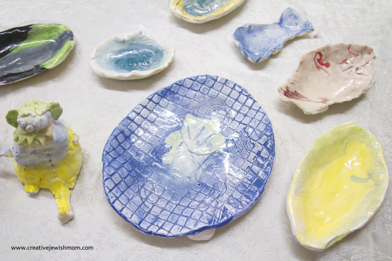 Ceramic Plates and Small Dishes By six year old