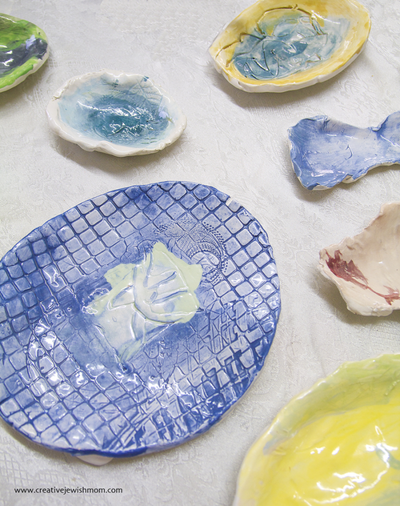 Ceramic Trays And Dishes By Seven year old