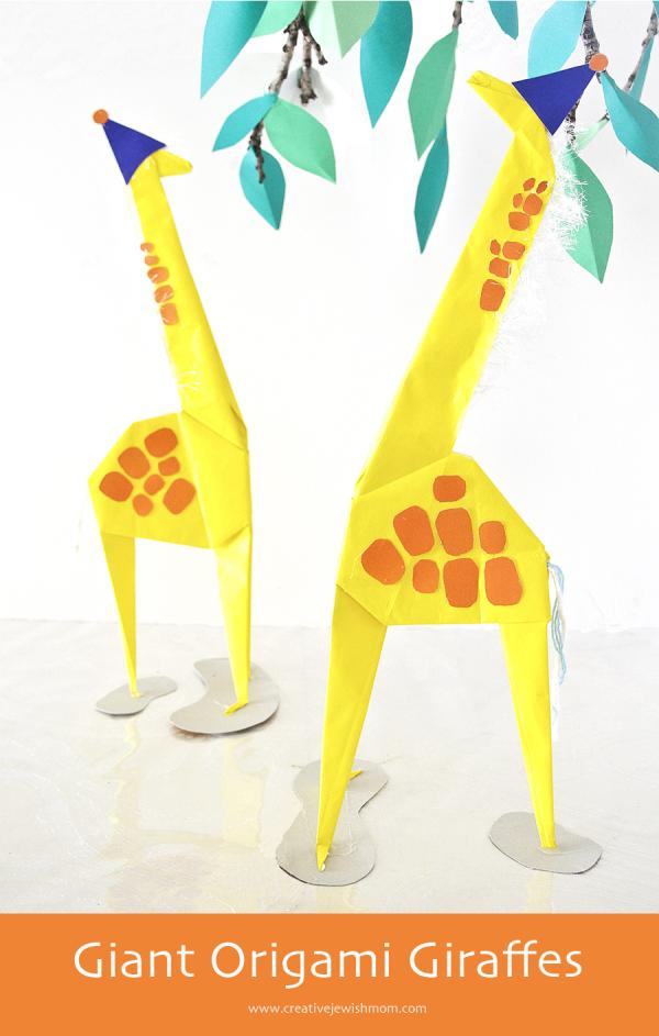Giant Origami Giraffe Diy Creative Jewish Mom
