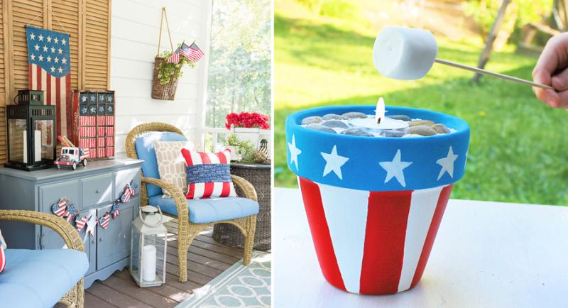 Mini smores kit,fourth of july porch decor