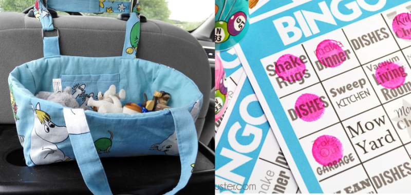 Car toy bag,chores bingo