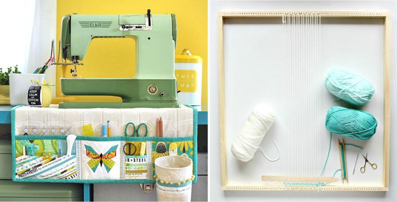 DIY weaving loom, sewing center organizerjpg