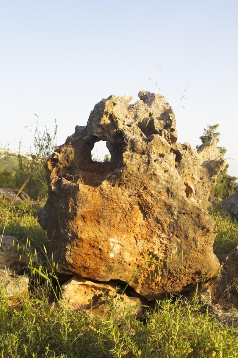 Gravesite Rabbi Shimon Ben Menasia Rock With Hole
