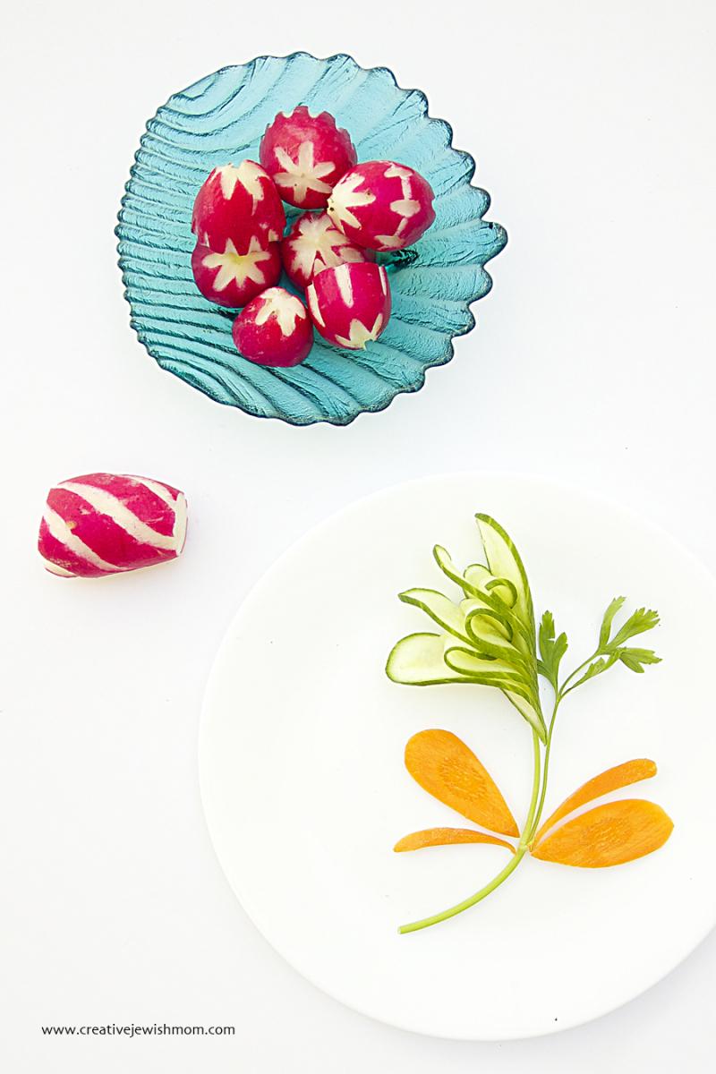 Vegetable Carving Simple Radish Garnish