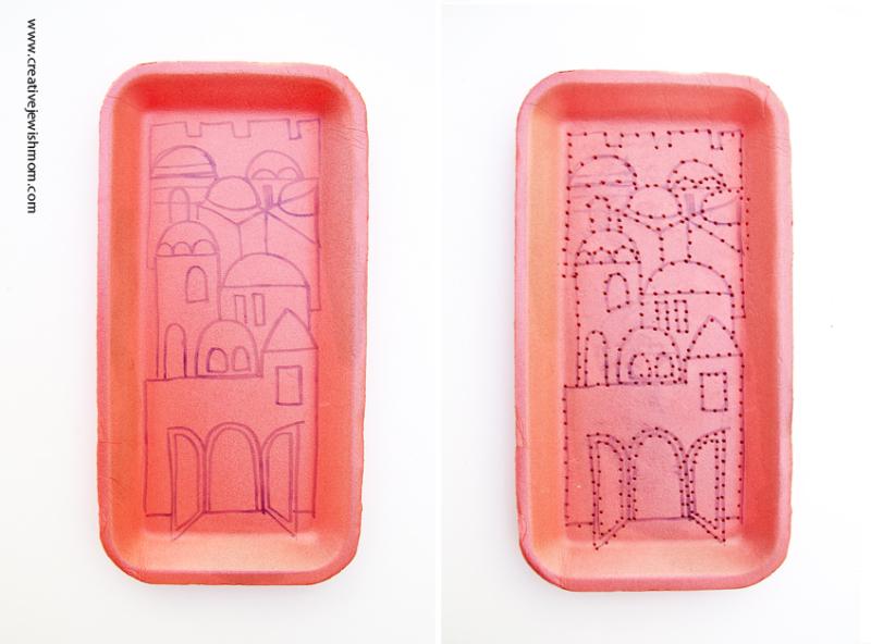 Styrofoam Tray Embroidery How To