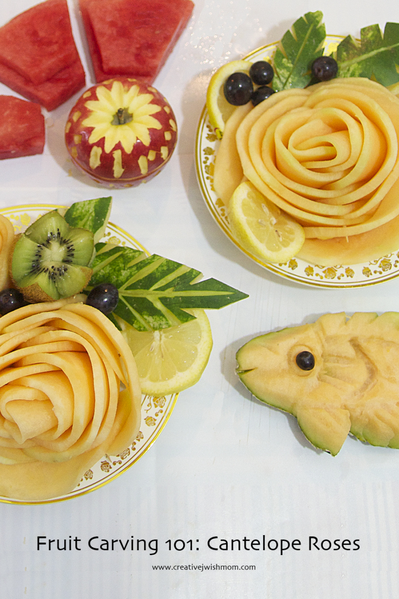 Fruit Carving Cantelope Garnishes