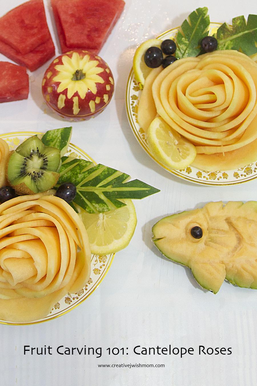 Fruit Carving 101 Cantelope Rose Garnishes Creative Jewish Mom Мускусная дыня (cucumis melo var. creative jewish mom