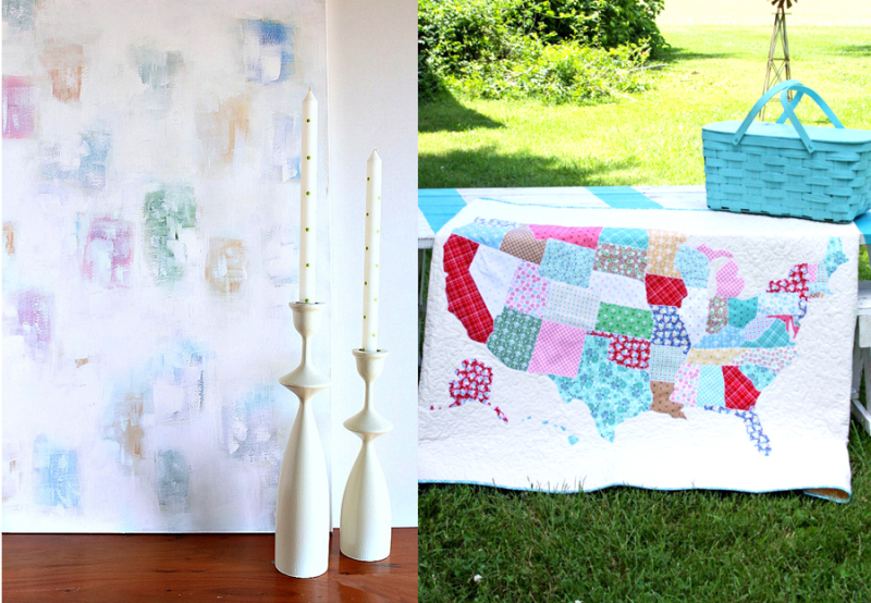 US Map Quilt,DIY abstract art
