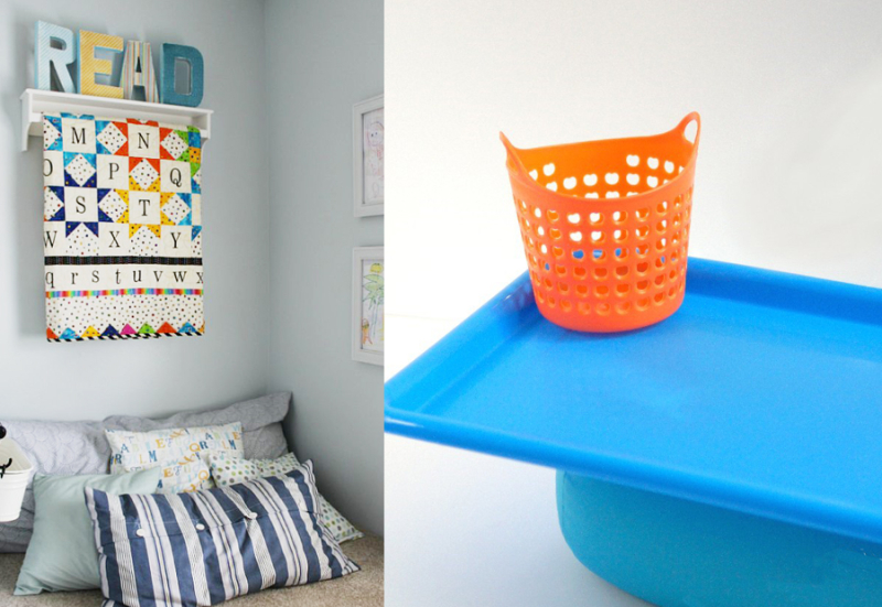DIY lap table for kids,reading corner decor
