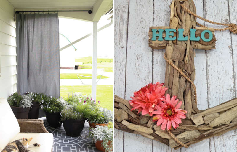 Driftwood anchor,DIY outdoor curtain