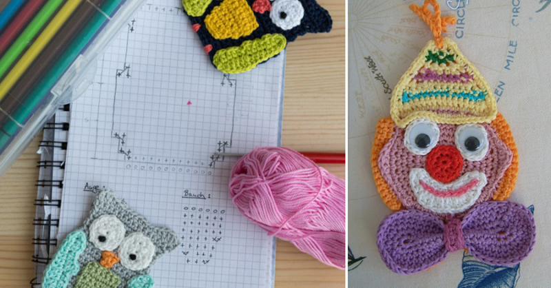 How to write a crochet pattern,crochet clown