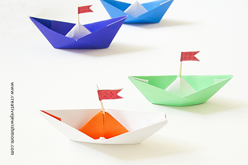 Paper Boats For Birthday Party Decor