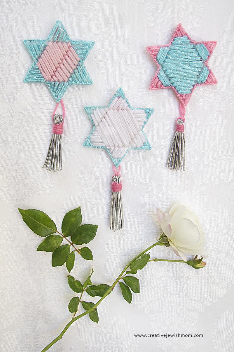 Plastic Canvas Star Ornaments