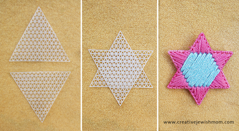 Plastic Canvas star how to