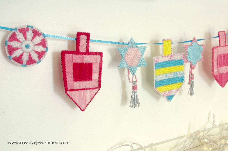 Plastic Canvas Hanukkah Garland Horizontal