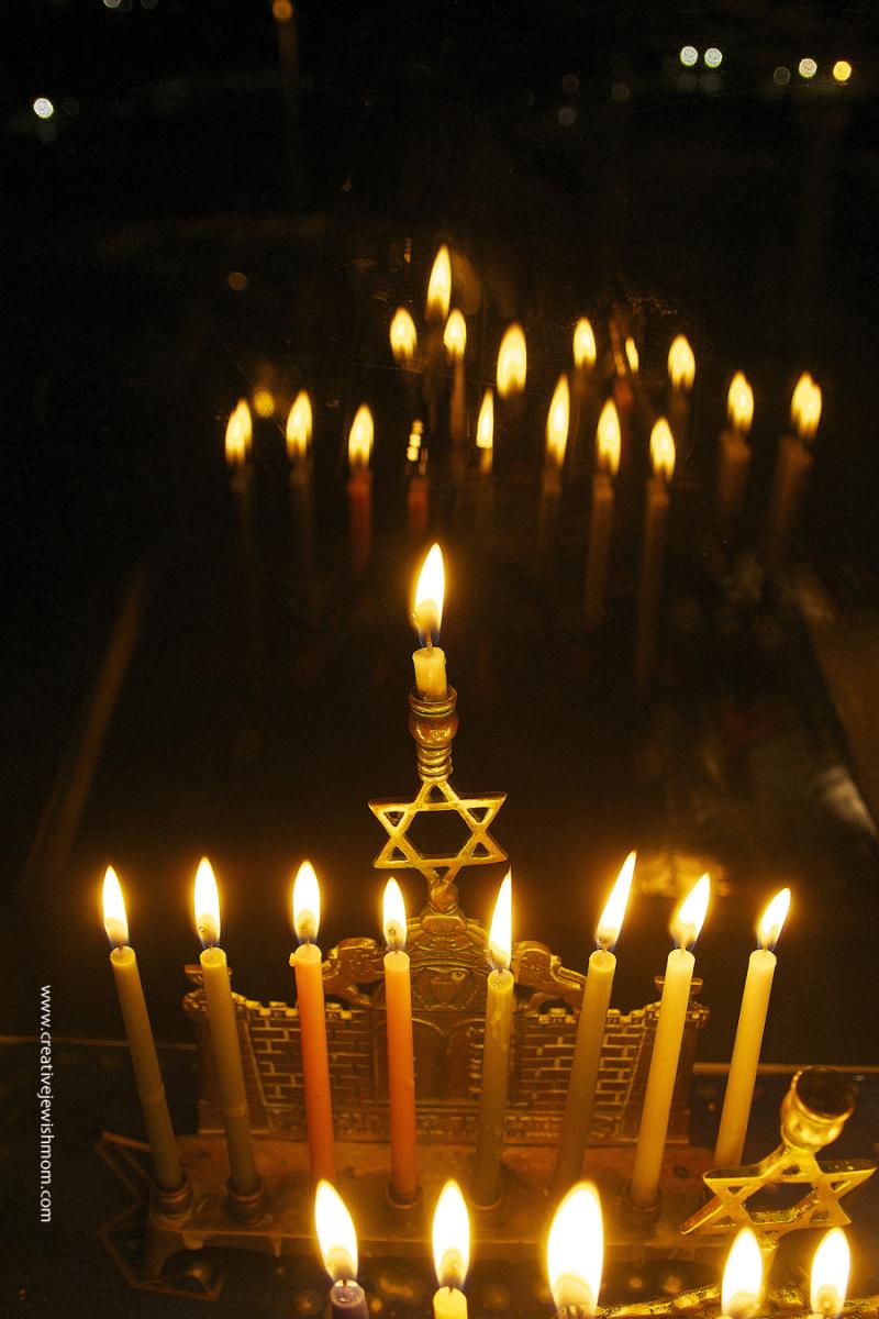 Hanukkah Menorah on 8th night