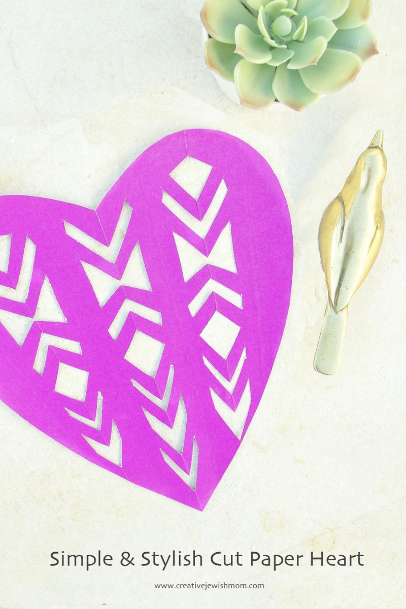 Cut Paper Heart
